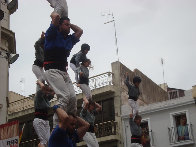 Festes de Maig de Badalona. Castellers d'Esplugues