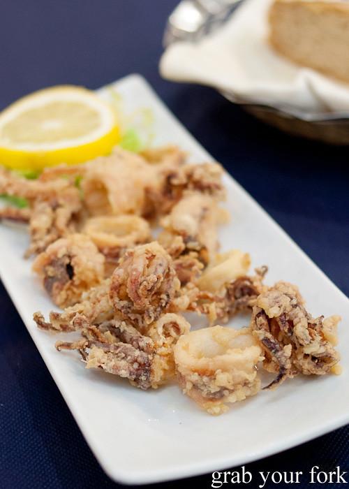 Chipirones frite fried baby squid at Casa Elisa Restaurant in Santiago de Compostela, Spain