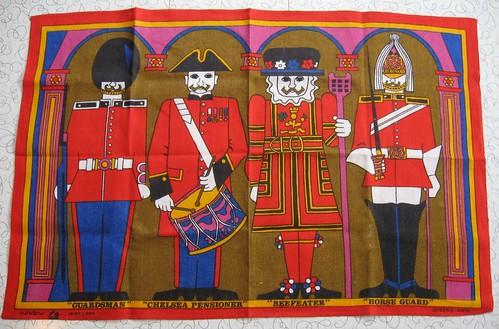 Irish Linen tea towel - Queen's Men.