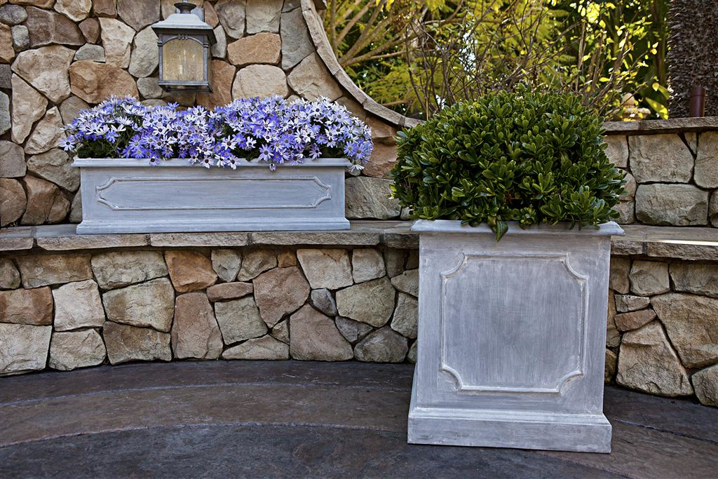 Paneled Square Planter & Paneled Window Box