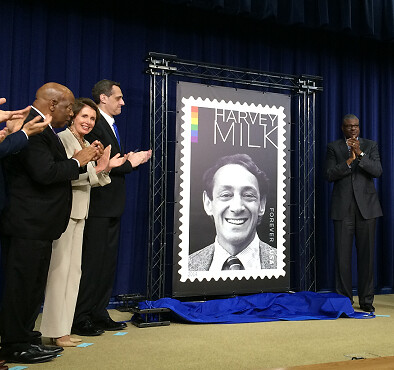 Congresswoman Pelosi celebrate Forever Stamp commemorating Harvey Milk