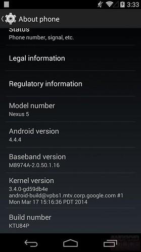 Android 4.4.4 для Nexus 5