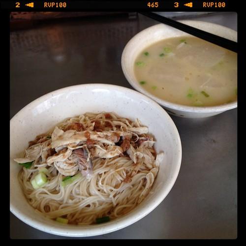 雞絲麵線、菜頭湯