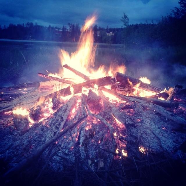 #midsummer night bonfire in #suomi #finland