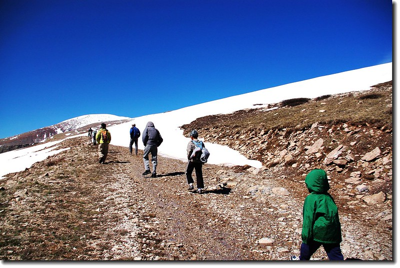 Jacob et al. making their way up this gentle portion of the route