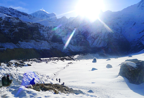leaving Annapurna Base Camp