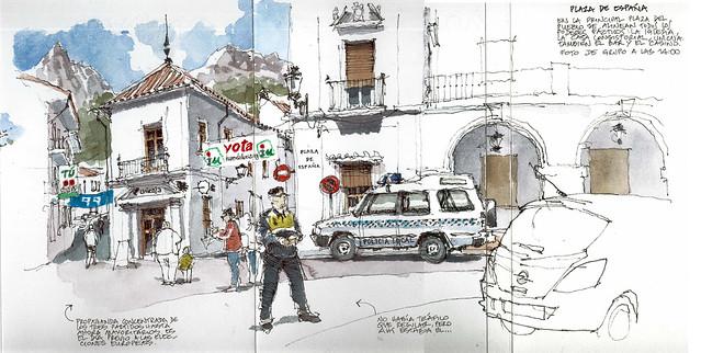 Grazalema, plaza de España
