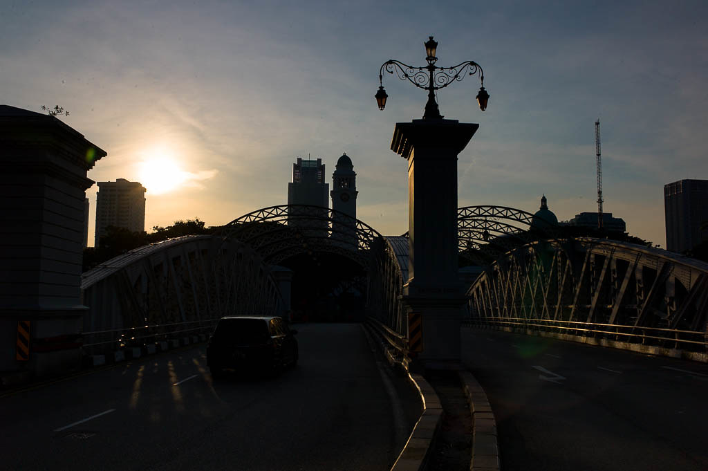 Sunset over Anderson Bridge, Singapore