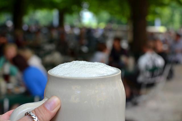 Frothy Beer, Augustiner Bräu, Salzburg, Austria