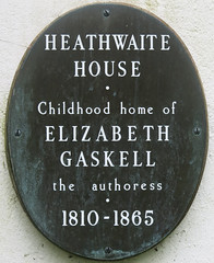 Photo of Elizabeth Gaskell bronze plaque