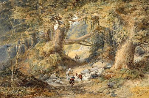 014- Cruzando el rio Teremakau- Nueva Zelanda-Chevalier, Nicholas 1876-Museo Te PapaTongareva