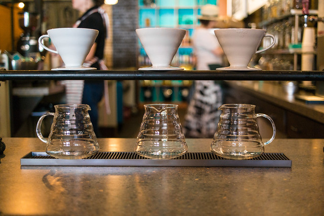Pour Over Coffee with a Hario V60 at Fourteen Eighteen Coffehouse