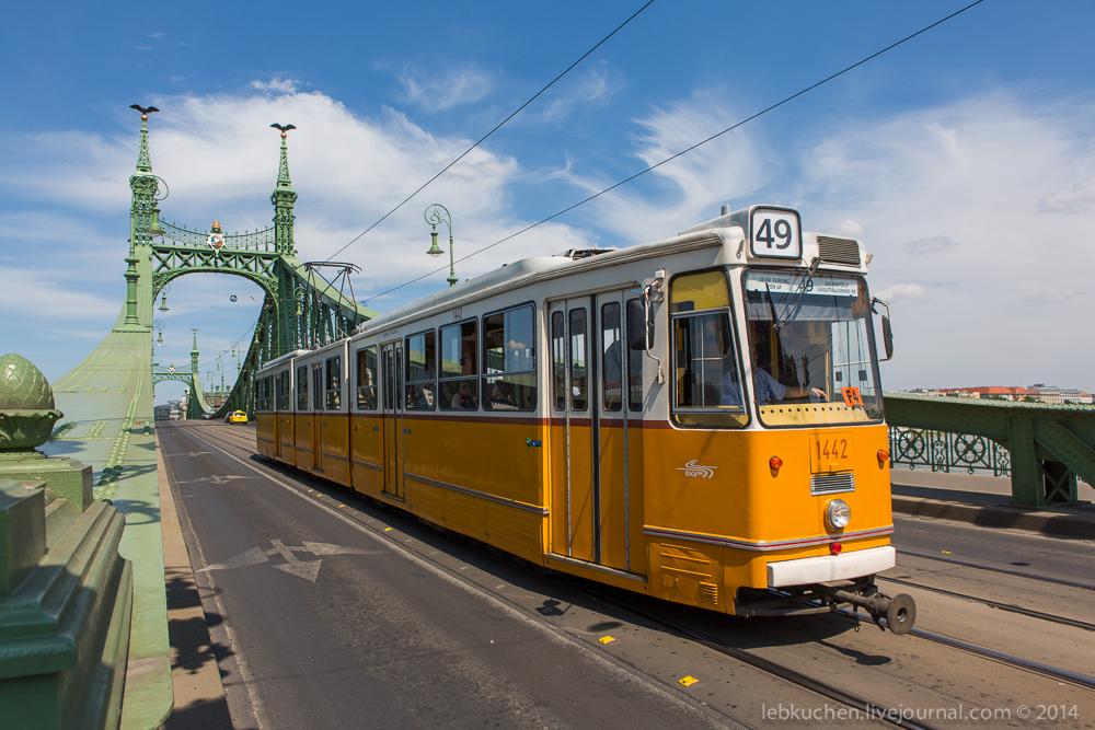 Старинные трамваи в Будапеште