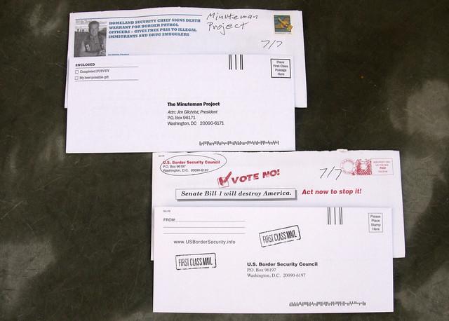Border junk mail