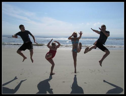 Beach Jump Karate Style