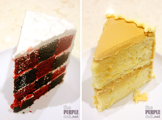 Checkered Cake (P209) and Caramel Cake (P189)