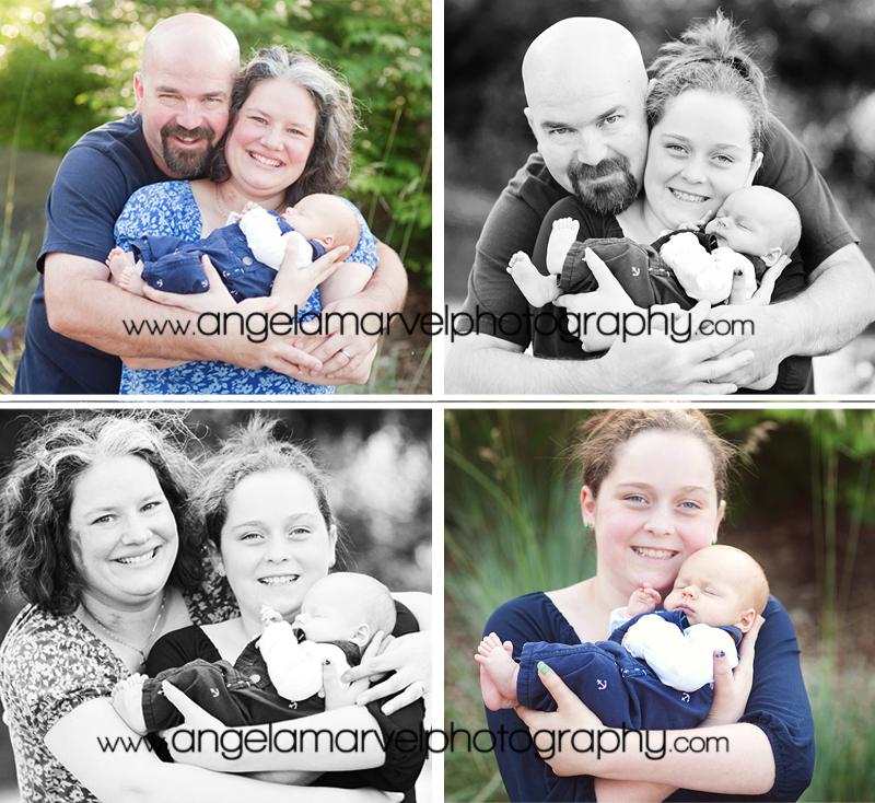 family outdoor newborn session tacoma ruston