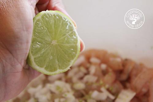 Cebiche de gambas www.cocinandoentreolivos.com (12)