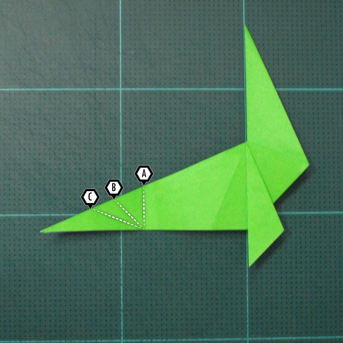 การพับกระดาษเป็นรูปแมวน้ำ (Origami Seal) 008