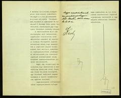 013. Gróf Tisza István miniszterelnök felterjesztése az uralkodóhoz bélyegek kibocsátása érdekében