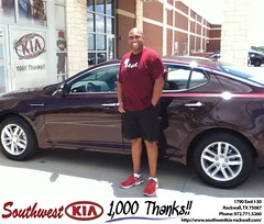 #HappyAnniversary to Chris Harrison on your 2013 #Kia #Optima from Donald Weintraub at Southwest KIA Rockwall!