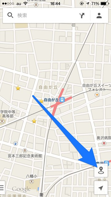 Google Maps付近を探索ボタン