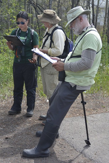 Working on the Wetlandkeeper's survey after visiting the site