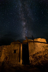Milky Way over Abandoned Home