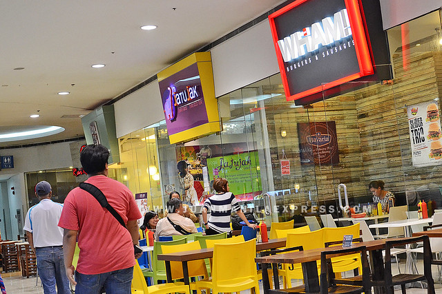THE NEW WHAM! BURGERS AND SAUSAGES. Located at The Block Level 4, SM North EDSA.