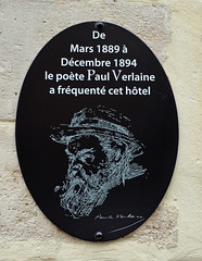 Photo of Paul Verlaine black plaque