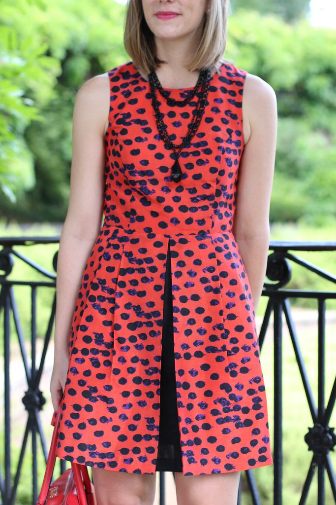 The Right Shoes blog spotted dress & gladiators