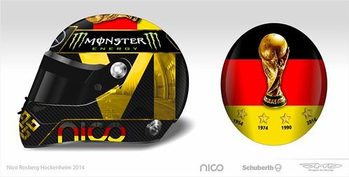 Diseño casco Nico Rosberg GP Alemania de F1