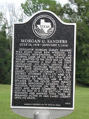 Photo of Morgan Gurley Sanders black plaque