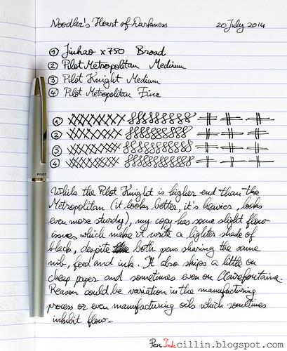 Pilot Knight writing sample