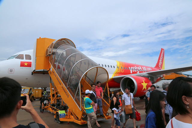 Arriving in Ho Chi Minh City on VietJet Air