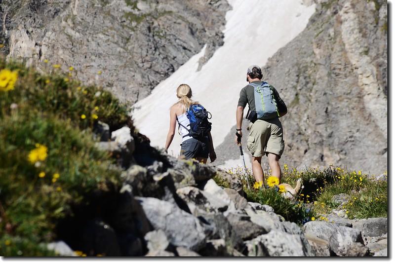 Hikers on their way to Grays Peak 1