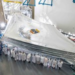 The Sunshield on NASA's James Webb Space Telescope is the largest part of the observatory-five layers of thin membrane that must unfurl reliably in space to precise tolerances. Last week, for the first time, engineers stacked and unfurled a full-sized test unit of the Sunshield and it worked perfectly.