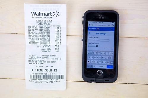 Walmart Savings Catcher and Receipt