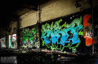 Huncoat Power Station - Graffiti | by DugieUK