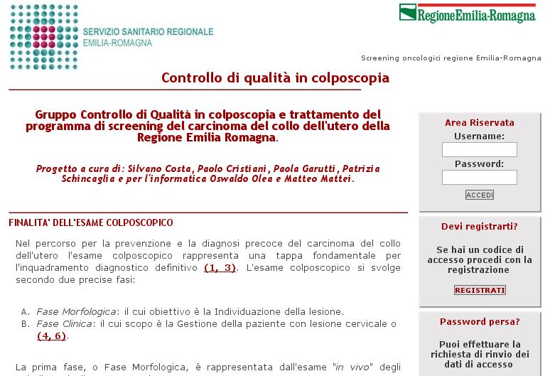 Colposcopia Emilia Romagna