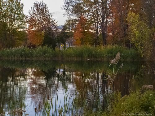 smack53 westmilford newjersey water pond lake reflections trees autumn fall fallcolors fallseason autumnseason autumncolors evening scenery foliage outdoors canon powershot g12 canonpowershotg12