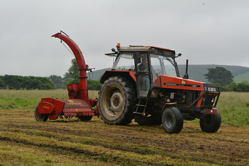 Ursus De Luxe 1222 Tractor with a Tarrup Double Chop Trailed Silage Harvester