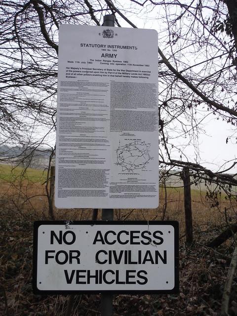 Byelaws on Imber Range Perimeter Path