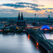 Cologne cityscape in the evening by tim.sharifsoltani