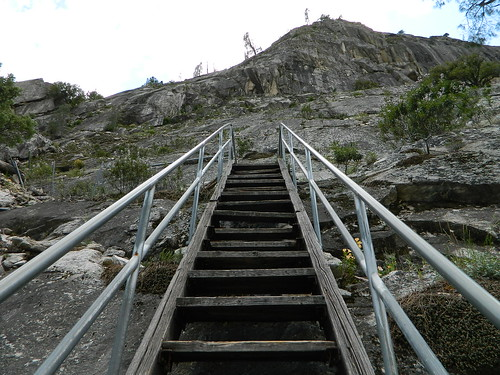 views stairs stairwell steps ladder rock granite sierra rivers