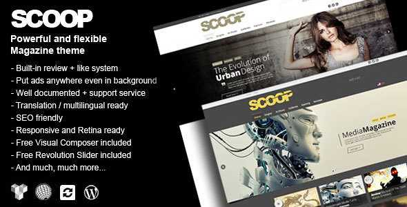 Scoop WordPress Theme free download