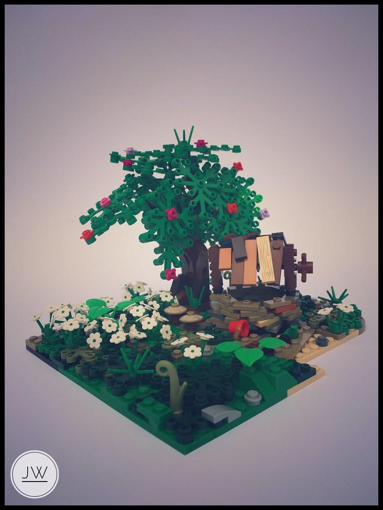 In the garden (custom built Lego model)