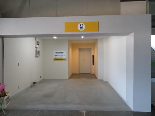 佐賀競馬場のエレベーター