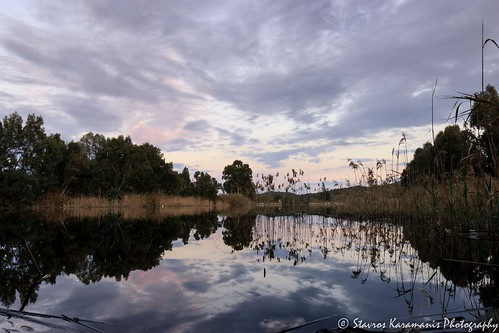 sunset reflection lake lakeforest lakescapes sky skylovers cloud colours water lines canonphotography canonusers canon t3i ef1635mmf4lisusm ngc nicosia cyprus river