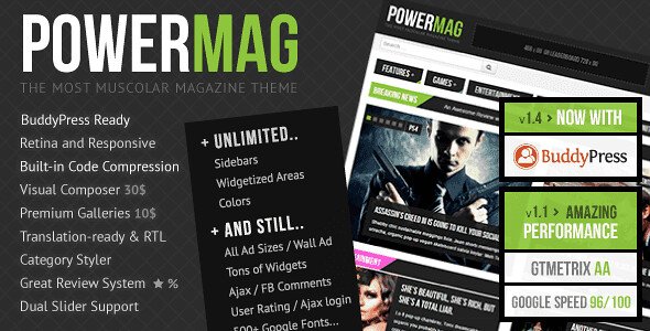 PowerMag WordPress Theme free download